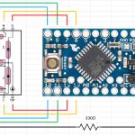 Arduino スレーブその1: 1桁7セグ